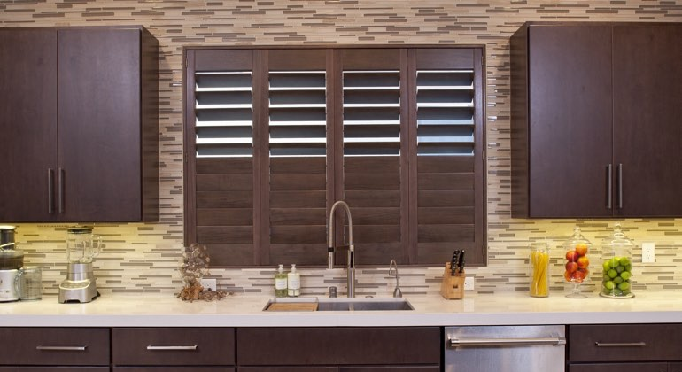 Austin cafe kitchen shutters