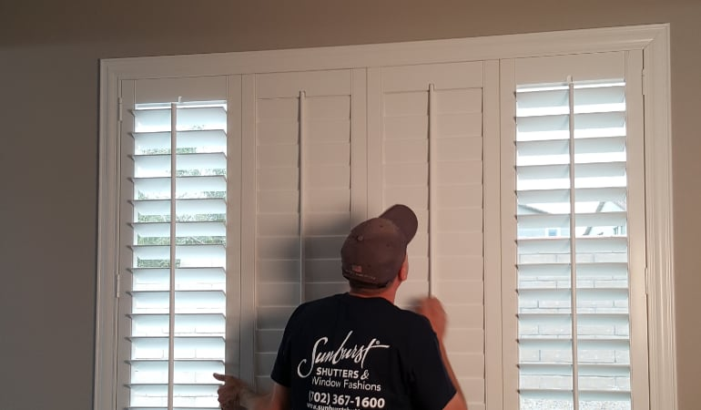 Installation of plantation shutters in Austin