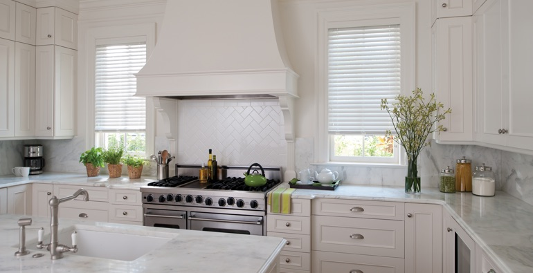 Austin white faux wood blinds