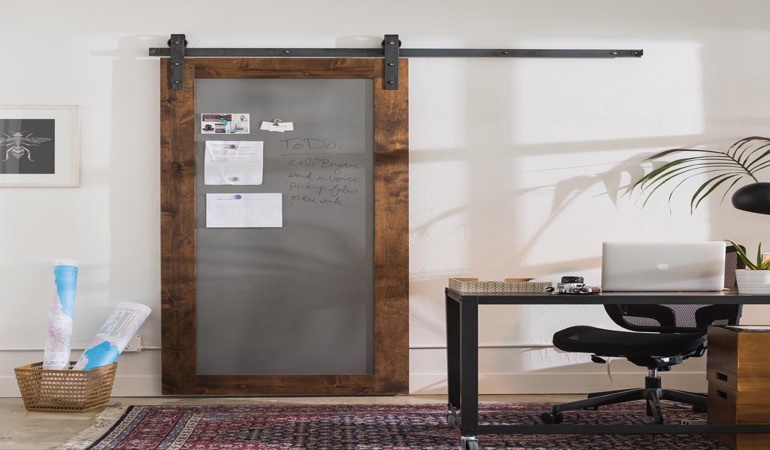 Austin home office barn door
