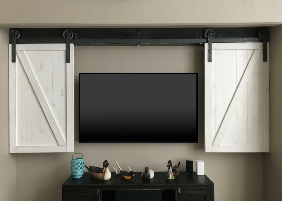 Austin tv shutter barn door