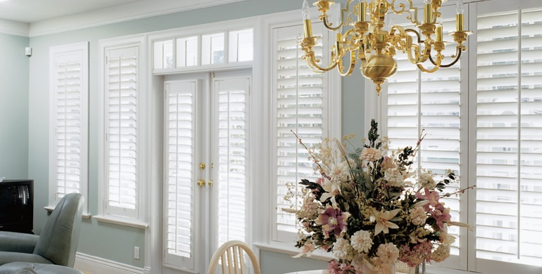 Austin sunroom polywood shutters