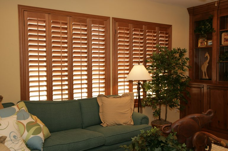 Ovation Shutters In A Austin Living Room.