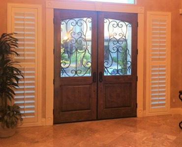 Austin sidelight window treatment shutter