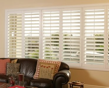 Austin wide window shutter living room